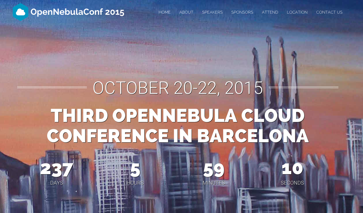 OpenNebulaConf 2015